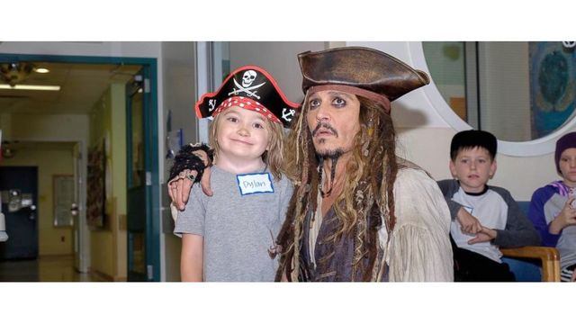 Johnny Depp As Capt. Jack Sparrow Delights Kids At BC Children's Hospital