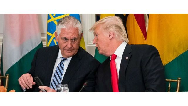Trump challenges Secretary of State Rex Tillerson to 'compare IQ tests'