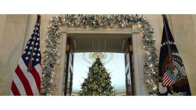 First lady Melania Trump trolled over White House Christmas decorations, outfit