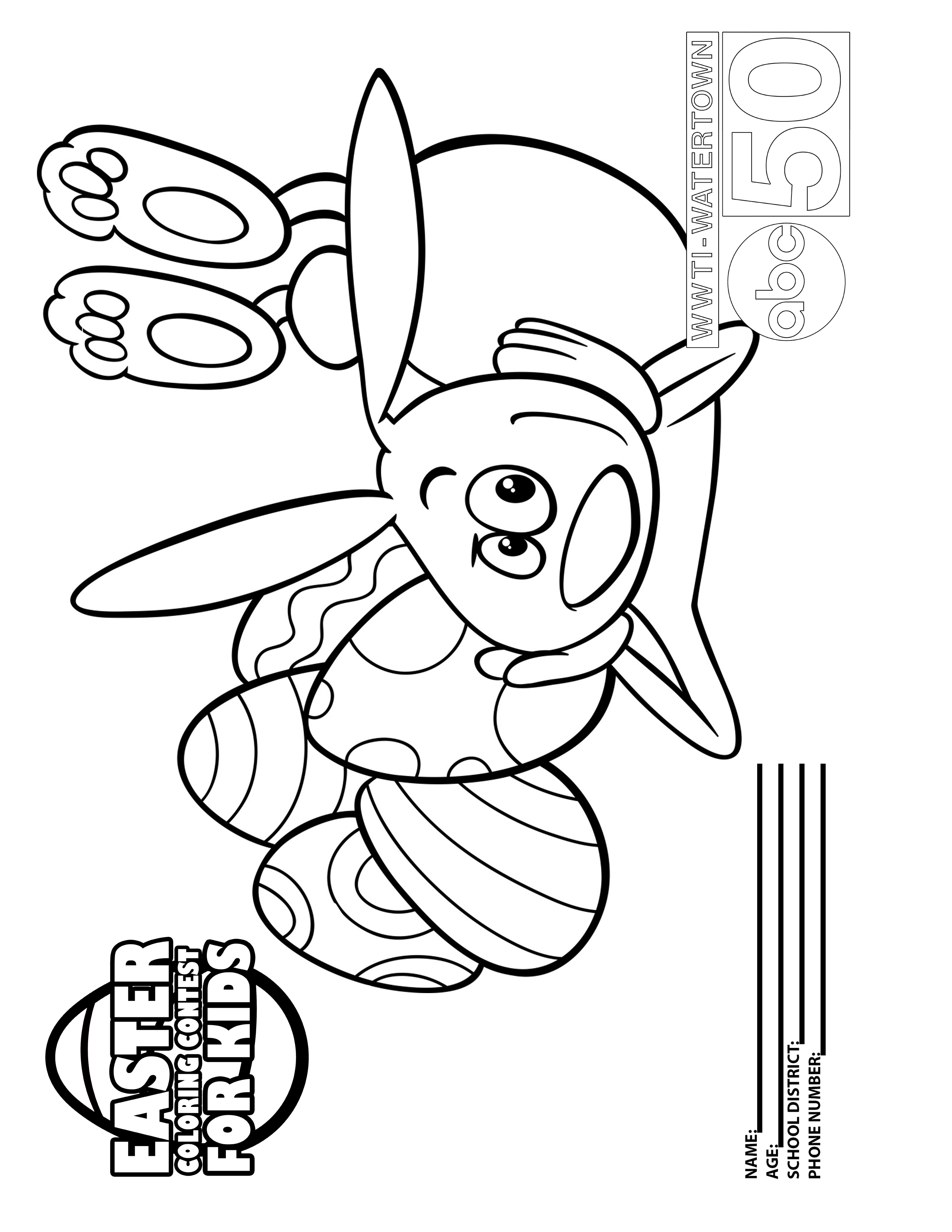 Easter Coloring Contest - INFORMNNY